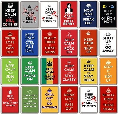 £1.55 • Buy FRIDGE MAGNET - KEEP CALM AND...(Various Designs) - Large