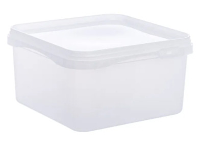 2.4 LTR FOOD GRADE TUBS SANDWICH ICE CREAM  STORAGE Plastic Containers X 25 • 19.99£