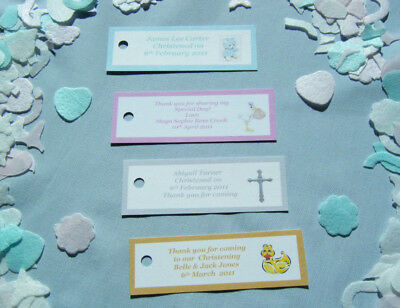 20 Personalised Christening Baptism Baby Shower Holy Communion Favor Tags     • 4.45£