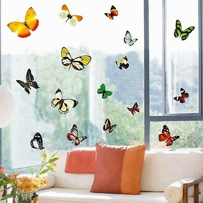 £6.49 • Buy Large 15 Butterflies Removable Wall Stickers Vinyl Art Decor Home Decal Mural