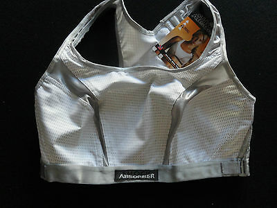 Victoria Secret 36d Shock Absorber Medium Support White & Grey  Bra Nwt $40 • 14.99$
