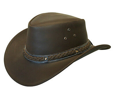 £21.21 • Buy Australian Western Outback Style Cowboy Real Leather Bush Hat Brown