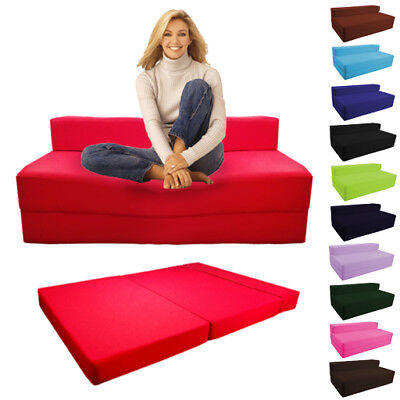 £75.97 • Buy Fold Out Foam Double Guest Z Bed Chair Folding Mattress Sofa Bed Futon Sofabed