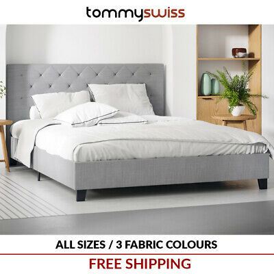 AU179 • Buy King Queen & Double Size Fabric Bed Frame W Diamond Tufted Bed Head For Mattress