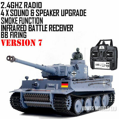 Heng Long Radio Remote Control RC Tank German Tiger I Version 6 With Infrared   • 149.99£