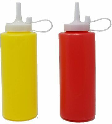 £5.99 • Buy Large Plastic Squeezy Sauce Bottles With Nozzle Cap 13oz Ketchup Mayo Mustard