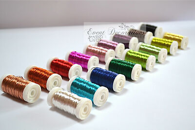 £6.49 • Buy Oasis Metallic Colour Wire On A Reel - Floristry Or Crafts - Many Colours!