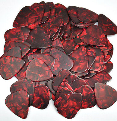 $ CDN14.63 • Buy 100 Pcs New Blank Heavy 0.96mm Guitar Picks Celluloid Pearl Red