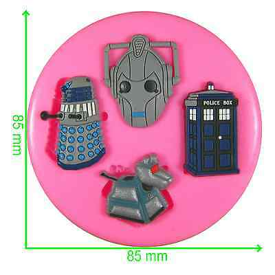 Dr Who Tardis Darlek K-9 & Cyberman Silicone Mould By Fairie Blessings • 6.50£