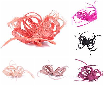 £5.49 • Buy Large Clip Feather Fascinator Ladies Day Wedding Races Royal Ascot 1