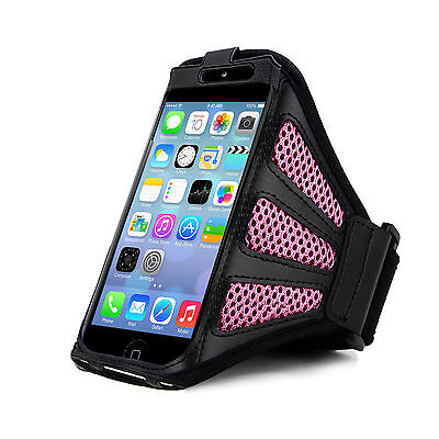 IPhone 5 Strong ArmBand Pink Cover For SPORTS GYM BIKE CYCLE JOGGING RUNNING • 3.99£