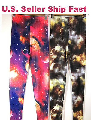 £4.25 • Buy Women Cosmic Crush Star Punk Hot Topic Sexy Rave Party Galaxy Leggings