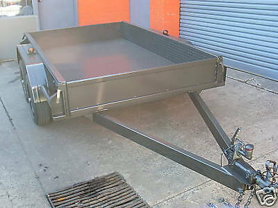 AU2150 • Buy 8x5 Tandem Trailer Heavy Duty (Cheq Plate Floor And Sides)