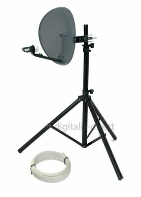 Satellite TV Tripod + 43cm Sky Dish For Caravan Camping Portable Reception  NEW • 42.99£
