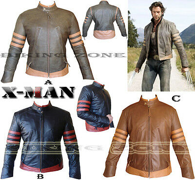 X-men Wolverine Style Mens Fashion High Quality Leather Jacket In 4 Colours • 99.99£