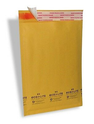 $42.50 • Buy 250 #0 6.5x10 Ecolite Kraft Bubble Mailers Padded Envelopes CD DVD - TheBoxery