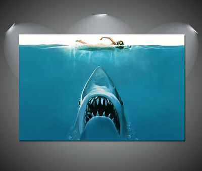 Jaws Movie Vintage Retro Movie Large Poster - A1, A2, A3, A4 Sizes • 13.90£