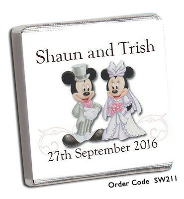 £11.99 • Buy 50 Personalised Chocolate Wedding Favours - Top Quality, Great Price, Free P+p