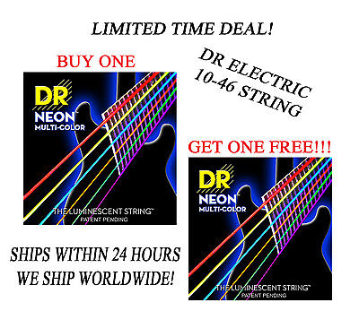 $ CDN17.71 • Buy *dr Hi-def Neon Multi-color Electric Guitar Strings (10-46) -- Buy 1 Get 1 Free*