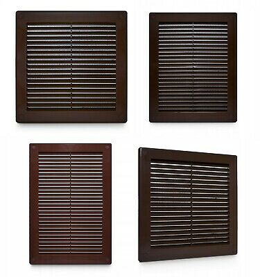 £2.99 • Buy Brown Air Vent Grille With Fly Screen / Anti-Insect Mesh Duct Ventilation Cover