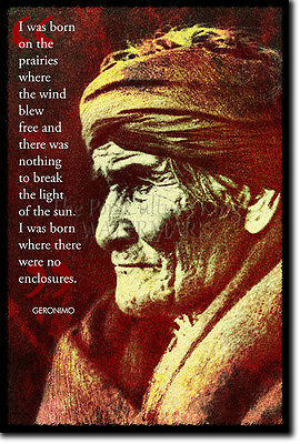 £9.99 • Buy Geronimo Art Print 2 Photo Poster Gift Native American Apache Indian Quote