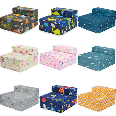 £39.97 • Buy Kids Character Foam Fold Out Sleep Over Guest Single Futon Chair Sofa Z Bed Seat