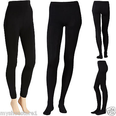 £3.90 • Buy Ladies Women Girls Tights Warming Soft Fleece Lined Thermal Thick Winter Stretch