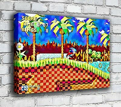 Sonic - RETRO GAMING CANVAS • 9.99£