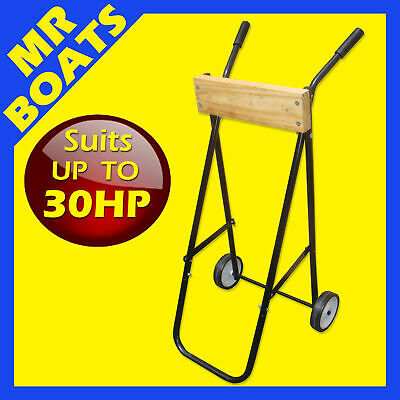 AU75.95 • Buy OUTBOARD MOTOR TROLLEY STAND Suits Up To 30hp - FREE POST - Protect Your Engine
