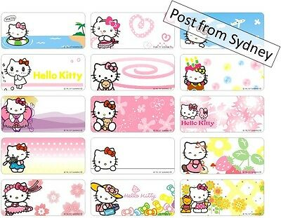 AU5.59 • Buy 72 Hello Kitty Cat Personalised Name Labels Sticker 28x13mm Self Adhesive Vinyl