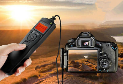 LCD Display Shutter Release Timer Remote For Canon 550D 600D 1100D 700D 650D 70D • 13.49£