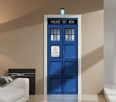£100.19 • Buy Doctor Who TARDIS Wall Or Door Decal Sticker Graphic Dr.-Sci-Fi-TV-Whovian