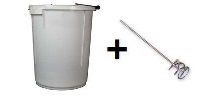 £12.95 • Buy Plasterers Bucket Plus Hand Or Drill Mixer For Paint/plaster Heavy Duty
