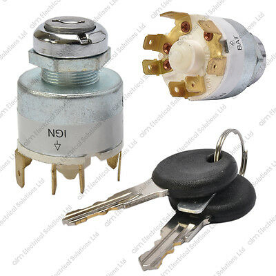 12V Universal Ignition Switch & 2 Keys - Boat Car Lawnmower Classic/Kit Car • 9.99£