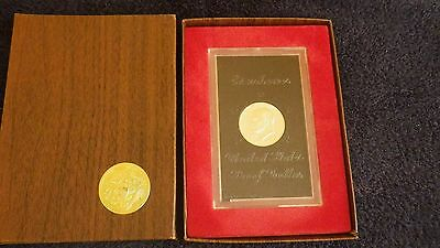 $18 • Buy 1971 US Mint Proof Eisenhower-S One Dollar Coin In Hard Case & US Mint Box