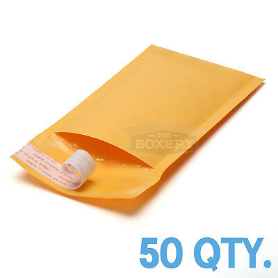 $9.50 • Buy 50 #000 Kraft Bubble Padded Envelopes Mailers 4 X 8 From TheBoxery