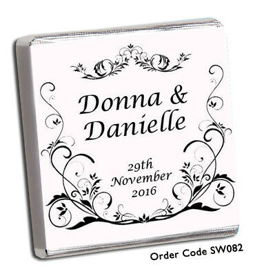 £8.99 • Buy 50 Personalised Chocolate Wedding Favours+best On Ebay+over 600 Designs