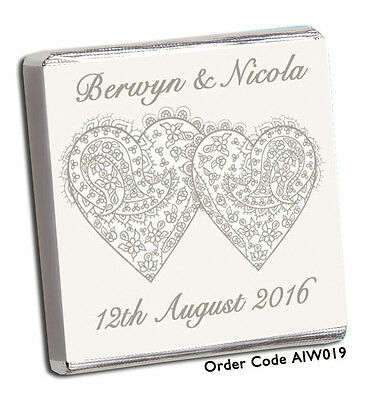 £8.99 • Buy 50 Personalised* Chocolate Wedding Favours *own Image* Free P+p New Designs 2019