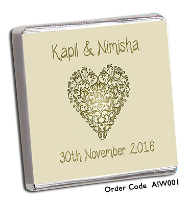 £11.99 • Buy 50 Personalised Chocolate Wedding Favours Biggest Selection On Ebay/free P+p!!!!