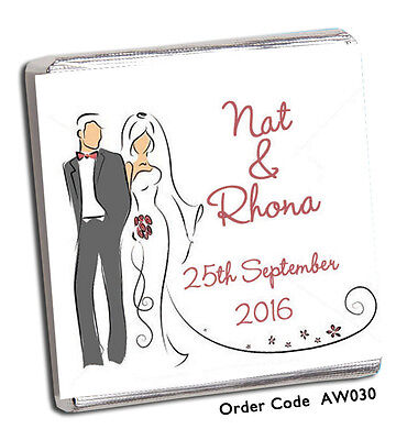£6.99 • Buy 50 Personalised Chocolate Wedding Favours New Designs For 2020 See Our Shop!