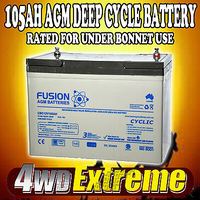AU285 • Buy Deep Cycle Agm 105ah 12v Fridge Caravan 4wd N70zz Battery Cbc12v105ah 100ah