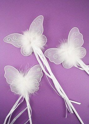 £3.45 • Buy Girls Ladies Pink / White Butterfly Fairy Wand Fancy Dress Dressing Up Wand Girl