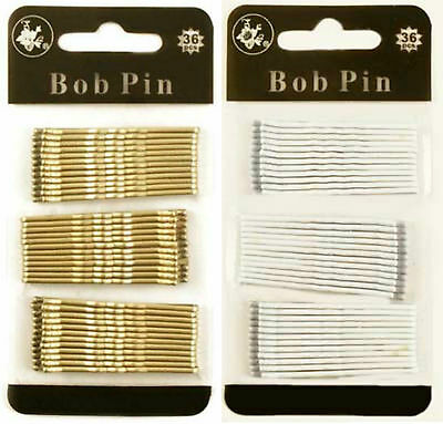 36 Kirby Hair Grips Bob Pins Slides Girls Ladies Hair Clips Waved Pins Hair Grip • 1.49£