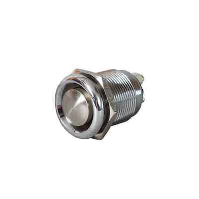 Stainless Steel Push Button Switch - Momentary On - Horn Screenwash Starter 20A • 2.99£