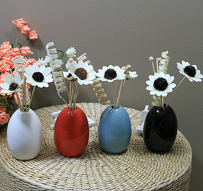 AU29.95 • Buy Ceramic Fragrant Reed Oil Diffuser Kits Set 50ml - Multiple Scents Available
