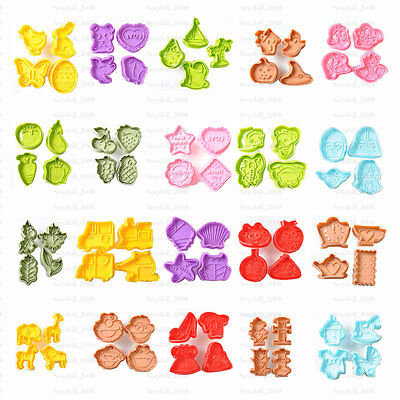 £3.99 • Buy Amazing Series Cake Fondant Sugarcraft Cookies Decorating Plunger Cutter Moulds