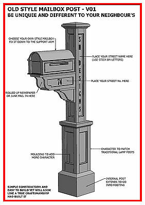 $8.82 • Buy (BUILDING PLANS) For OLD STYLE MAILBOX / LETTERBOX POST V01 - BUILD & SAVE $$$
