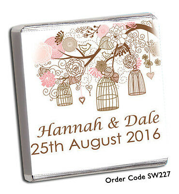 £11.99 • Buy 50 Personalised Chocolate Wedding Favours *BRAND NEW DESIGNS FOR 2021* FREE P+P