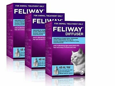 AU109.77 • Buy Feliway 48mL Diffuser Refill 3 Pack - Constant Calming And Comfort For Cats