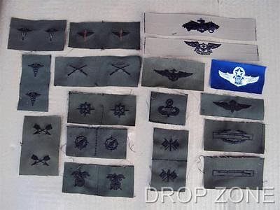 Subdued US Army Military Air Force Navy USN USAAF Insignia Badges Sew On Patches • 3.50£